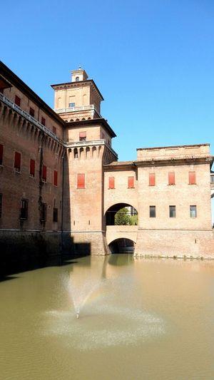 Architecture Castello Estense FerraraCity Italie