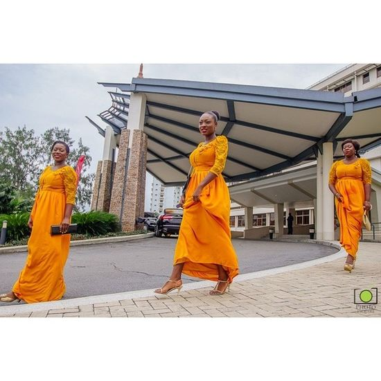 Bridesmaids Lagosweddingphotographer Nigerianweddings Nigerianweddingvendors welovenaijaweddings bellanaijaweddings loveweddingsng weddingdigestnaija yorubawedding yellow