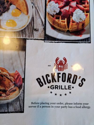 Bickfordsgrille Diner FoodFood And Drink No People Indoors  Close-up Text Menu Sweet Food Day