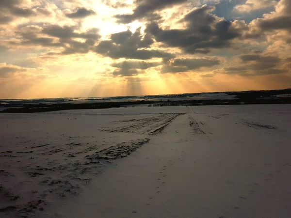 White Snow Landscape  Cloud Winter Snow Road Sunset Dramatic Sky Sky Nature Beauty In Nature Tranquility Scenics No People Outdoors Landscape Day Tranquil Scene Colour Your Horizn EyeEmNewHere Inner Power Go Higher Visual Creativity