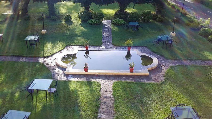 Nainital High Angle View Water Lawn Garden India Reflection Green Building Exterior