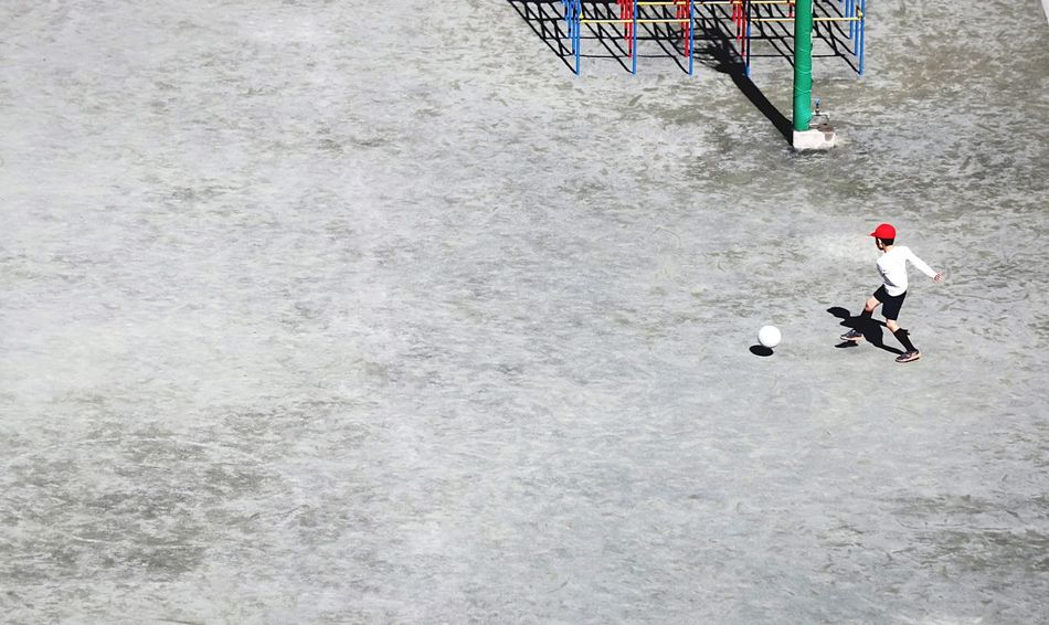 Q Lights And Shadows EyeEm Best Edits EyeEm Best Shots Junior Football Football Life Football Player Primary School Primary Games Primary School Playground Red Cap
