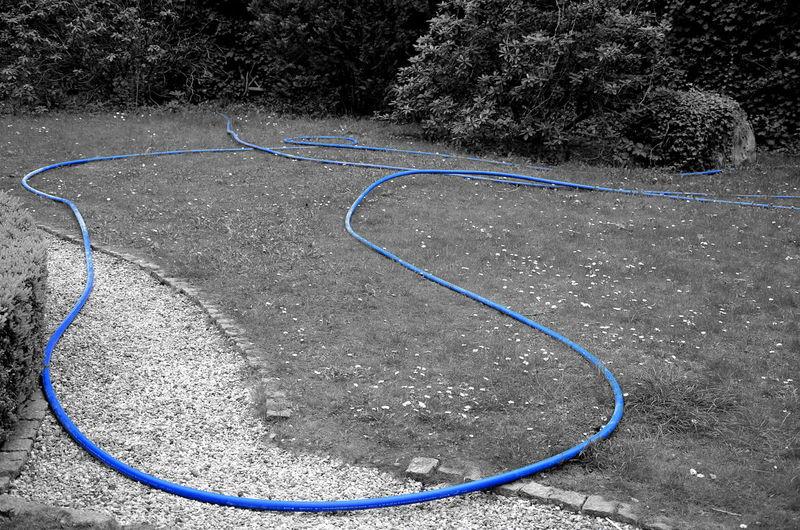 Blue Line Gartenschlauch Outdoors No People Blue Blue Wave Art Is Everywhere