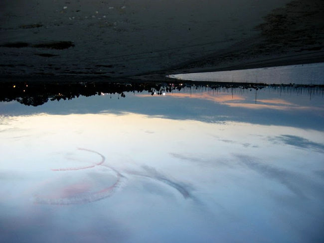 Aum Aum Beauty In Nature Cloud - Sky Day Nature No People Non-urban Scene Outdoors Reflection Scenics Sea Seascape Sky The Way Forward Tranquil Scene Tranquility Upside Down Water Water Surface