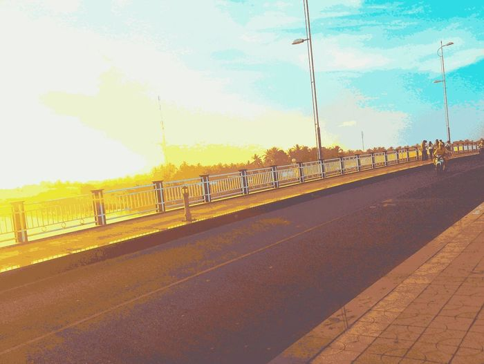 Fence Sunset Sky Sunlight Bridge - Man Made Structure Outdoors Tree Day No People Viet Nam Bymyphone Sunnyday 🌸🌷🌿