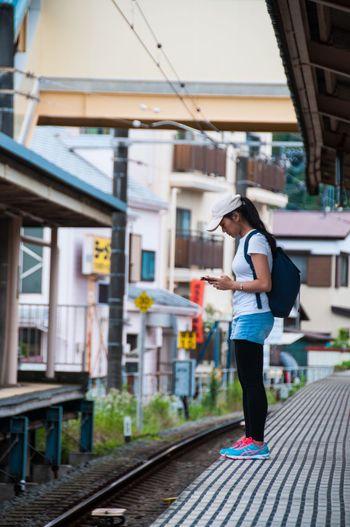 Feel The Journey Railway Railwaystation Edge Girl Japan Station Train Station Ultimate Japan