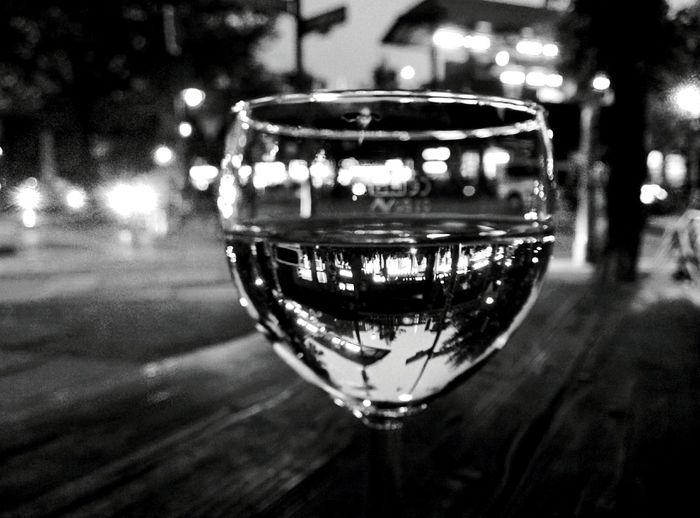 Day 313 - A glass of wine Berlin Blackandwhite Glass Wine Bokeh 365florianmski 365project Day313