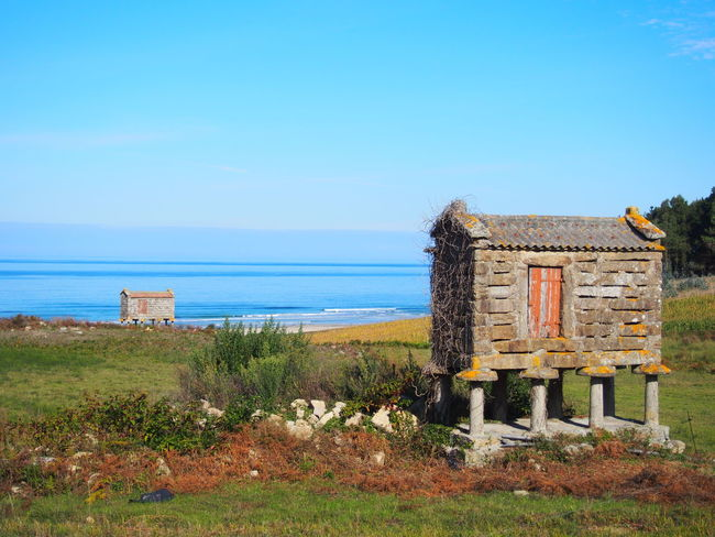 Galicia, Spain Muxía Architecture Beach Beauty In Nature Building Exterior Built Structure Day Grass Horizon Over Water Nature No People Outdoors Scenics Sea Sky Tree Water