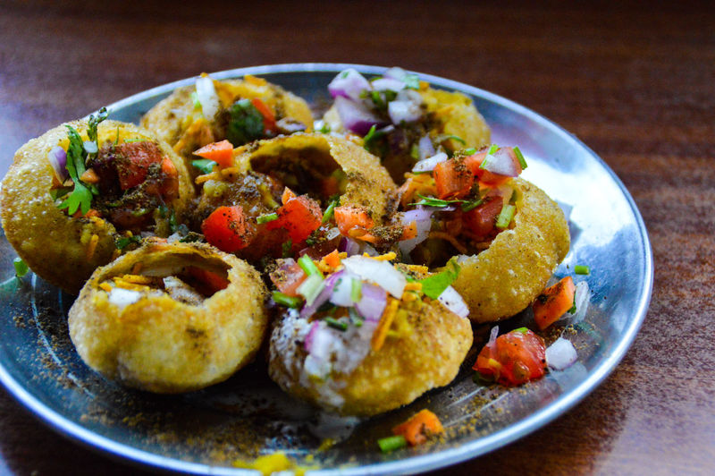 Pani Puri Pani Puri Real Indian Street Food Food Food And Drink Ready-to-eat Freshness Healthy Eating Table Plate Indoors  No People Bowl Close-up Serving Size Day Street Food Worldwide Culture And Cuisine Food And Travel Culture And Tradition Nepal Travel Photography Food And Drink