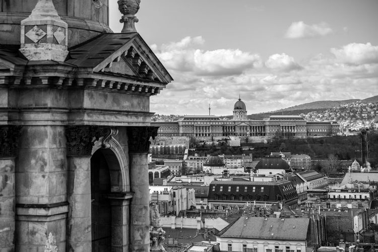 Crowded Budapest Hungary Szent István-bazilika Architecture Built Structure Building Exterior Sky History Building City Cloud - Sky Travel Destinations Outdoors Travel Old Tourism