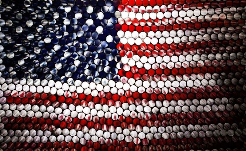 Backgrounds Large Group Of Objects Close-up No People In Camera Experimental Strawcamera Circles Circles Of Confusion Pattern Abstract Illuminated Art Pixelated Textured  Multi Colored American Flag America Red White Blue The Week On EyeEm Rethink Things
