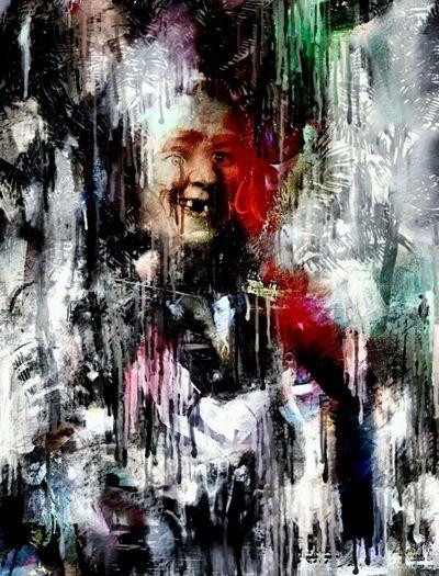 Europa Dépouille Dalí Paint Abstract Studio Shot Portrait One Person Human Face Textured