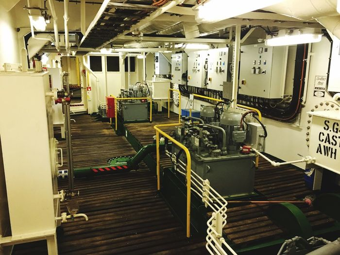 Steering gear room of an offshore vessel Offshore Ship Steering Gear