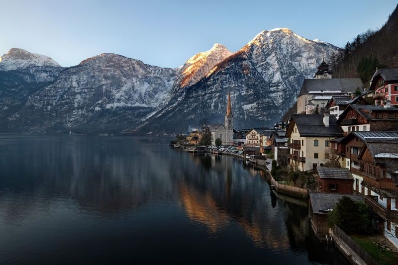 Hallstatt morning Travel EyeEm Best Shots Austria Travel Destinations Unesco UNESCO World Heritage Site Mountain Architecture Built Structure Water Building Exterior Building Sky Mountain Range Beauty In Nature Nature Waterfront Scenics - Nature Outdoors Town