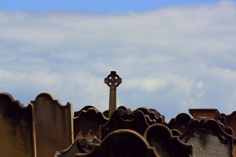 High-Res shot of the cemetery at Whitby Abbey in Whitby, England, UK. Blue Cloud Cloud - Sky Cloudy No People Outdoors Sky Tourism