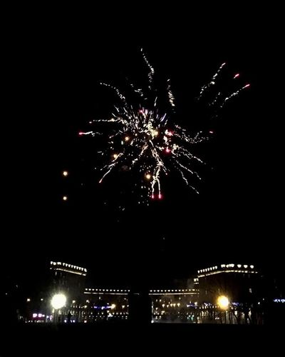 Celebration Firework Display Night Firework - Man Made Object Exploding Illuminated Low Angle View Sky Outdoors City Life Multi Colored City No People Cityscape Firework Midnight Christmas