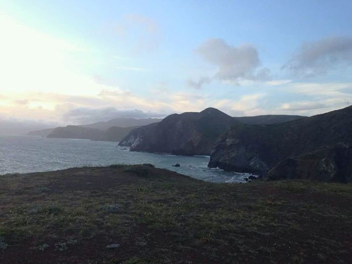 Marin Headlands Sea Ocean View Nature Cloud - Sky Rock - Object Landscape Scenics Outdoors Cliff No People Travel Destinations Coastal Feature Norcal EyeEm Nature Lover EyeEmNewHere Stormy Sky Cold Water Marin County