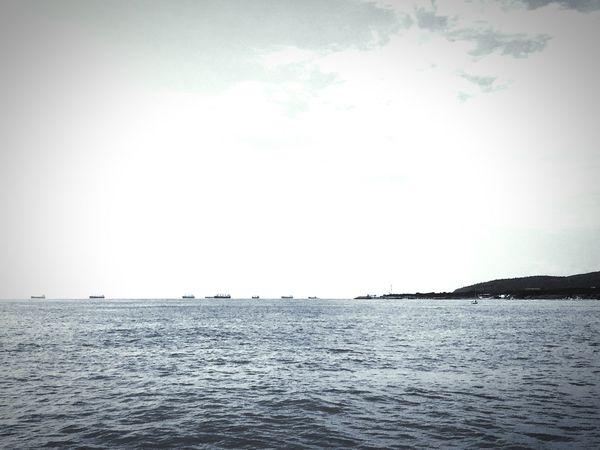 Sea Water Day Sky Sailing Ships Waterfront горизонт корабли Море вода небо день