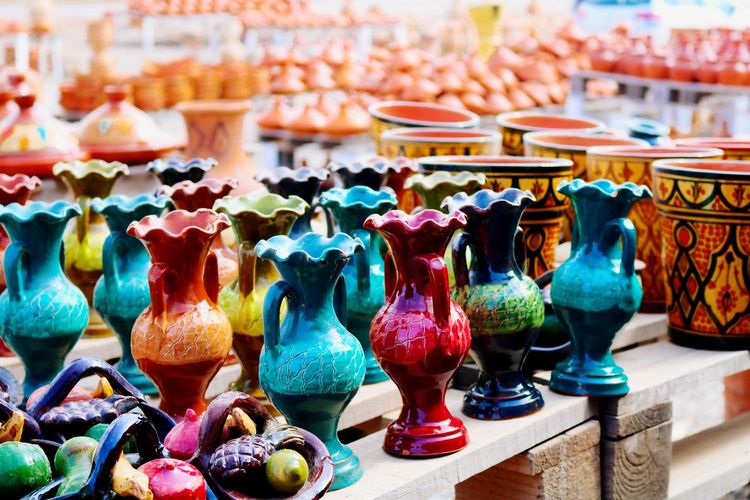 Pottery Pottery Pieces Travel Photography Morocco Morocco Travel Vase Decoration Vase Multi Colored Close-up Tourism