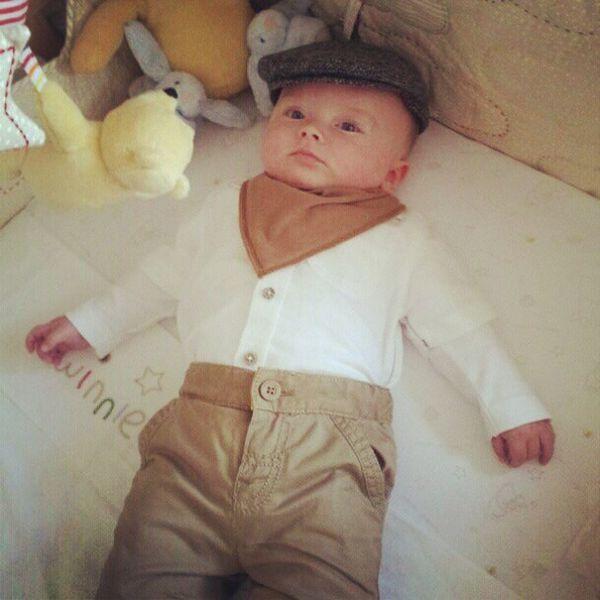 My little Yorkshire man Cute Baby Bib Neckerchief Flatcap Cap Shirt Winnie Pooh