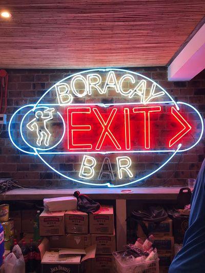 Exit bar Illuminated Bar Boracay Boracaypubcrawl