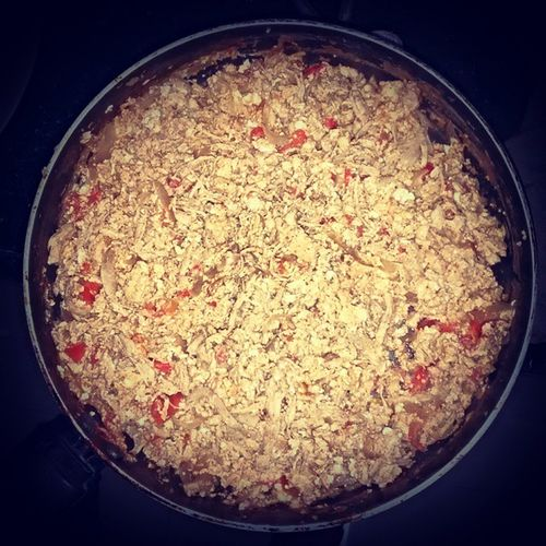 RainyDay Chickenbhurji Cooked by Myself