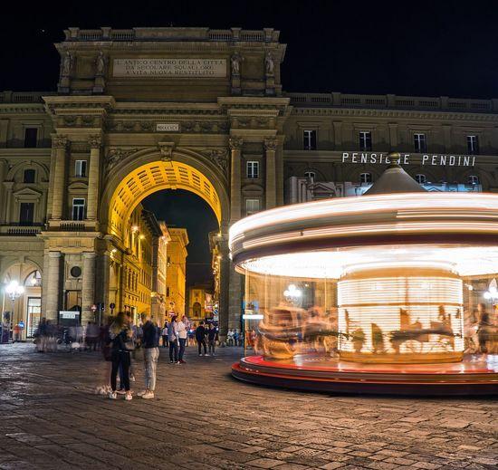 Firenze Florence Bella Italia Italy Night Lights Nightphotography Long Exposure Slow Shutter Carousel