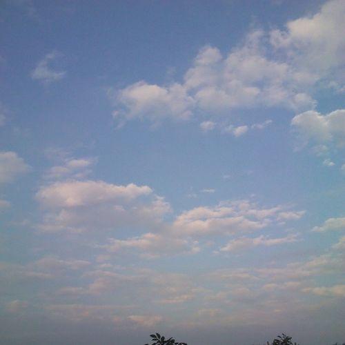 雖然天空很漂亮,但還是很冷。(抖