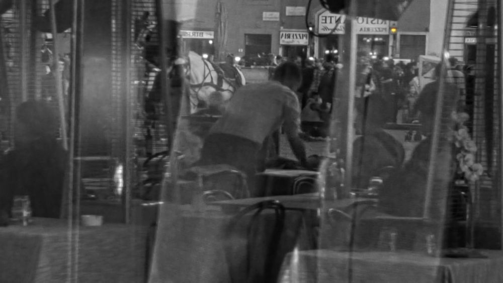 in the reflection Black & White Blackandwhite Florence Italy Mirror Outdoors People People And Places Restaurant