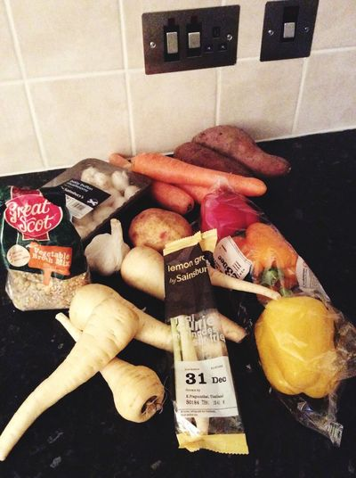Winter Ingredients For Broth