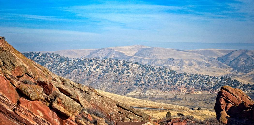 Red Rocks Park Mountain Scenics - Nature Tranquil Scene Beauty In Nature Environment Sky Non-urban Scene Mountain Range Tranquility Landscape Nature Cloud - Sky Rock Idyllic Day Remote Rock - Object Solid No People Rock Formation Outdoors Arid Climate Climate Formation Red Rocks