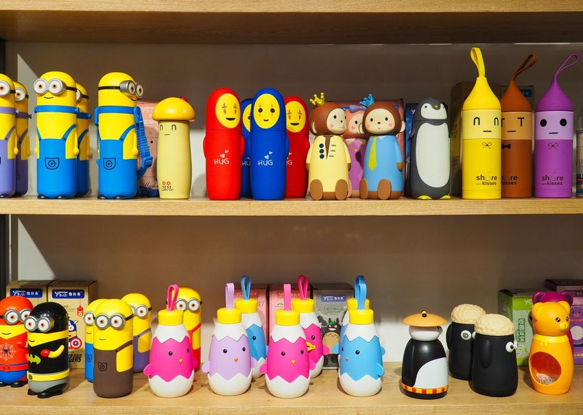 Children's Store Beijing, China Children Toys EyeEmNewHere Abundance Arrangement Choice Collection Container For Sale In A Row Indoors  Large Group Of Objects Multi Colored No People Order Plastic Toys Retail  Retail Display Shelf Side By Side Still Life Toy Variation