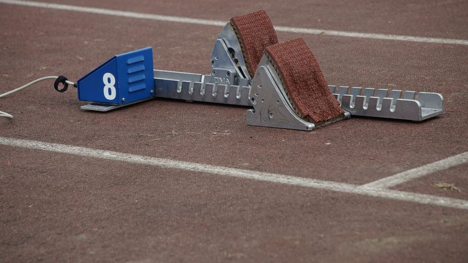 2831 8 Athletics Bedford Blocks Bucs Competition Competition Day Competitive Sport Day Eight Electronic No People Outdoors Running Track Running Track! Sport Sports Track Start Start Blocks Track Stadium Blocks BYOPaper!