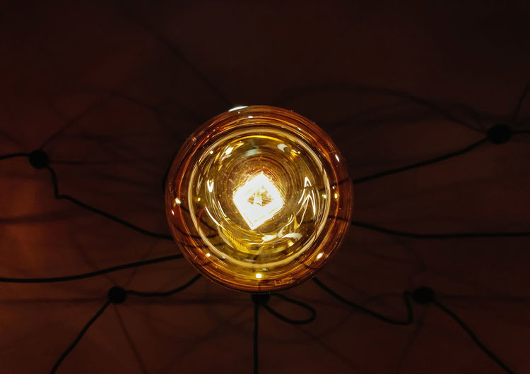 Electricity  Light Bulb Light Close-up Electric Lamp Cable Glass Fuel And Power Generation Technology Glass - Material Dark Filament Bulb Ceiling Low Angle View