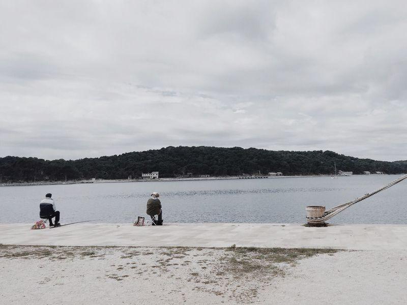 Lifestyle @ Mali Losinj, Croatia, 2015. Mali Lošinj Croatia Losinj Lifestyles Life Relax Relaxing Fishing Fishermen Sea Adriatic Sea Adriatic Water Skyline Rope Boat Coast Coastline Found On The Roll