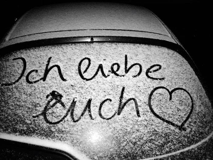 Schnee Love Snow Liebe Text Close-up No People Indoors