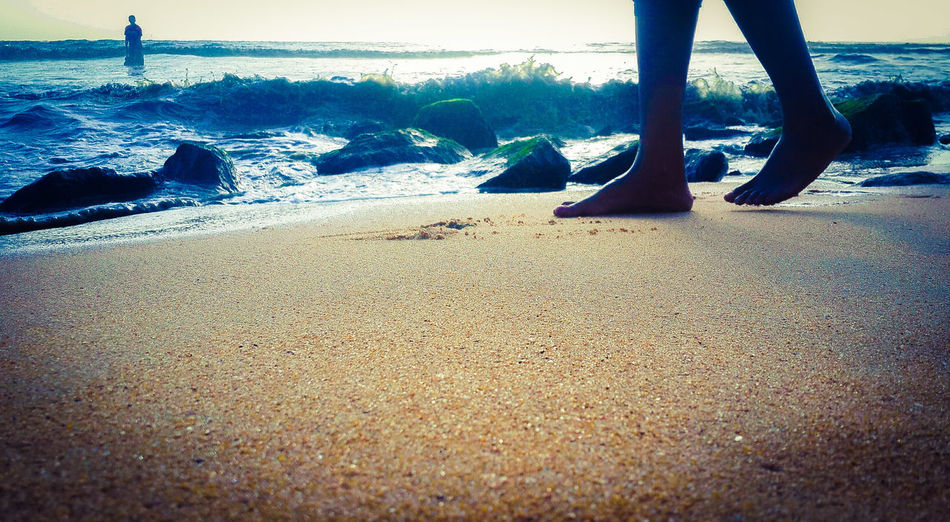 EyeEm Best Shots EyeEm Best Edits EyeEm Best Shots - Landscape Real People Human Leg Beach Low Section Day Sand Outdoors Close-up Nature People Nature Growing In Bloom Blooming Kerala Snehteeram Horizon Over Water Triperyar Kerala India Note4photagraphy