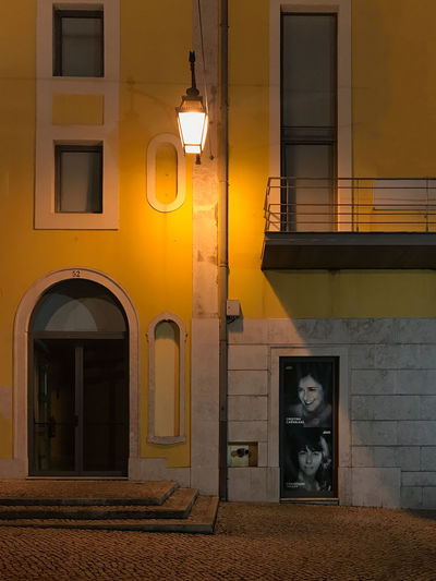 Architecture Building Exterior Built Structure Illuminated Night No People Outdoors Street Light Yellow