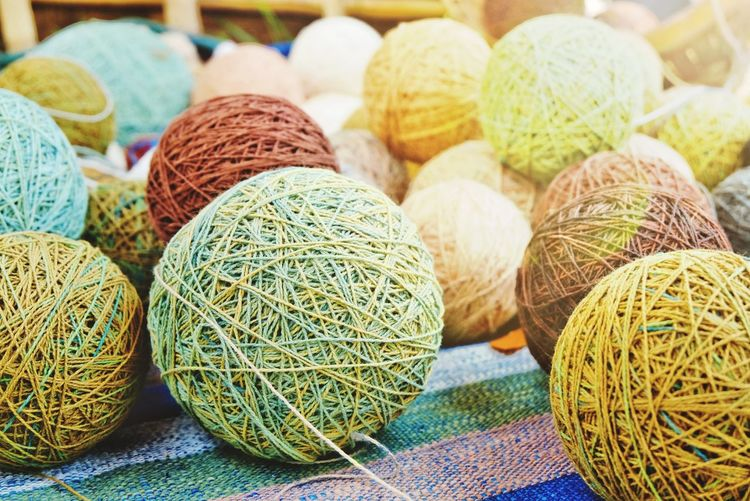 Cotton thread ball Ball Textile Fabric Nature Beautiful Pattern Cotton Thread Photo Close Up Beautiful LINE New Multi Colored Wool Variation Ball Of Wool Close-up Fiber Woolen