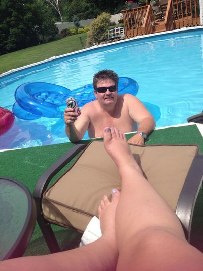 Swimming And Tanning With Daddy ☺☀