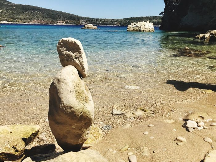 Prospettive Sea Rock - Object Water Beach Nature Day No People Outdoors Tranquil Scene Sunlight Beauty In Nature Sand Tranquility Scenics Sky Close-up Nidri Nydri Greece Grecia