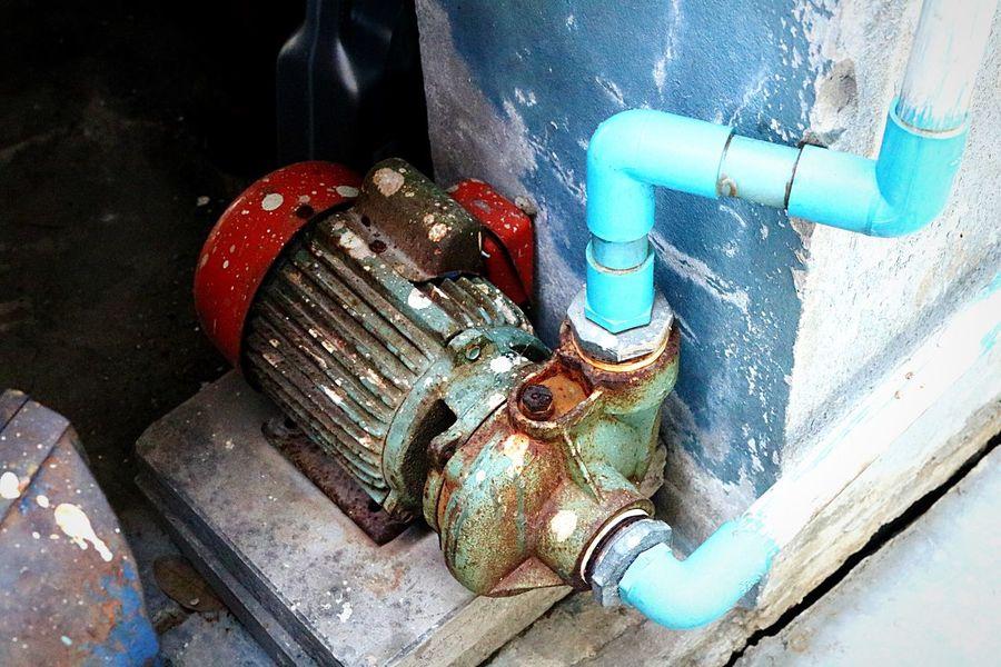 Department Sanitary Water Tank Pumps Metal Equipment Pumping Piping Work Working Piping