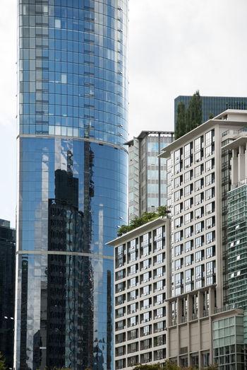 Modern office buildings against sky