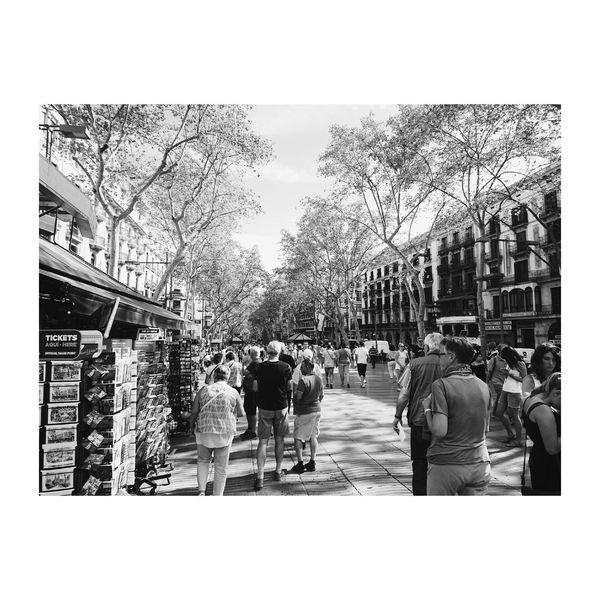 La Rambla Blackandwhite Blackandwhite Photography Barcelona Larambla Laramblas City Life City