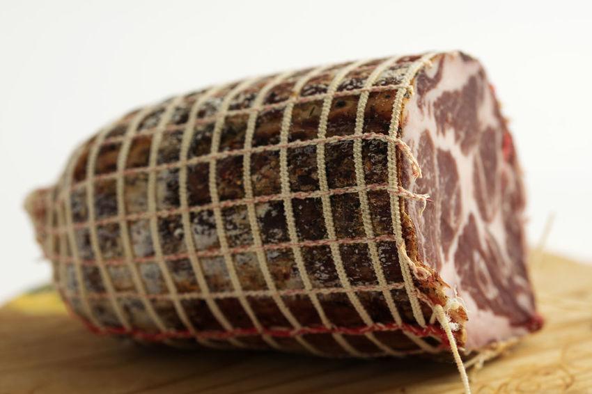 Homemade Pork Calabrese Calabria Capicollo Capocollo Piece Product Salami