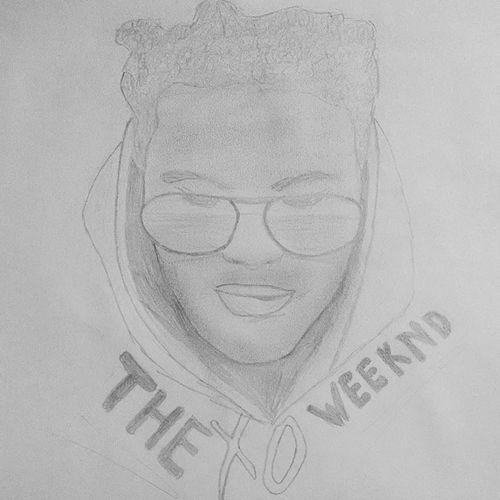 XO til we overdose Abeltesfaye Theweeknd Xo BlackAndWhiteDrawing Drawing Pencilsketch