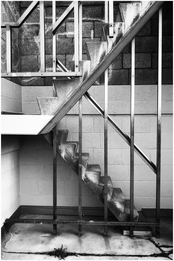 An unexpected poetic urban geometry sight Urban Geometry Black And White Kris Demey Photography Steps Steps And Staircases Railing No People Staircase Built Structure Day Architecture