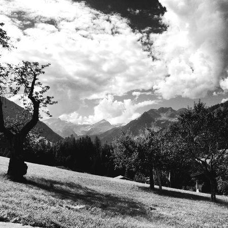 Landscape Sky Blackandwhite Gstaad Alps First Eyeem Photo