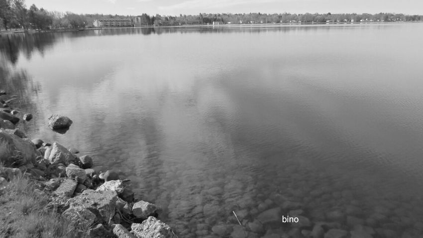 Early Morning Around The Lake Lake Like Glass Tranquility Black And White Photography Lake Cadillac Pure Michigan