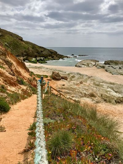 Porto Covo, Rota Vicentina, Portugal Adventure Atlantic Ocean Hiking Travel Exploring Staircase Rota Vicentina Porto Côvo Alentejo Portugal Costa Vicentina Water Sea Sky Beach Cloud - Sky Beauty In Nature Scenics - Nature Tranquility Sand Horizon Over Water